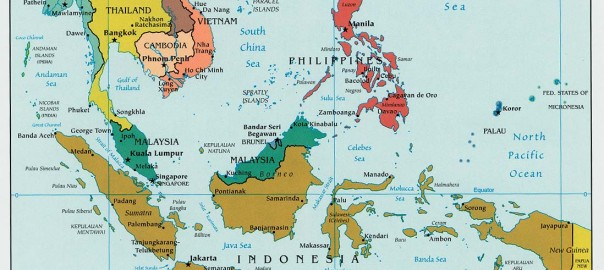 Free maps of ASEAN countries