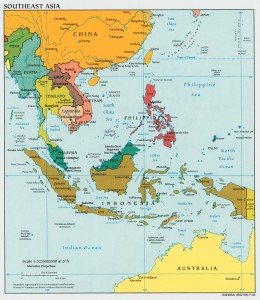 Political Map of South East Asia