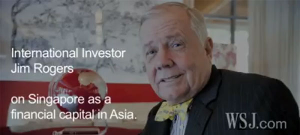Jim Rogers on Singapore as a financial center of Southeast Asia
