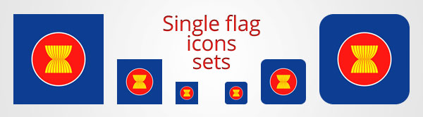 Single flag icons sets