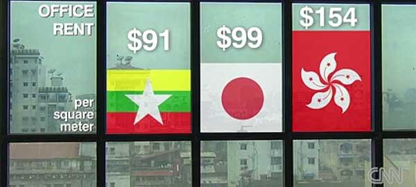 Booming real estate in Myanmar