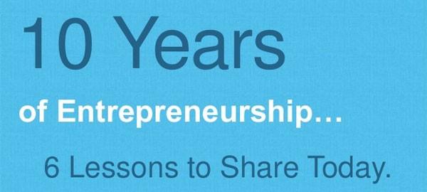 6 lessons for entrepreneurship