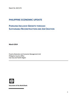 Philippine economy update - World Bank report