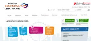 Singapore statistics website
