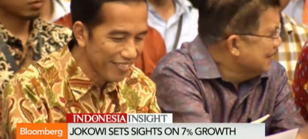 Indonesia's Jokowi targets 7% economic growth