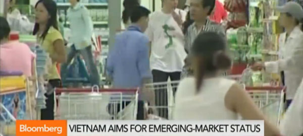 Vietnam targeting emerging market status