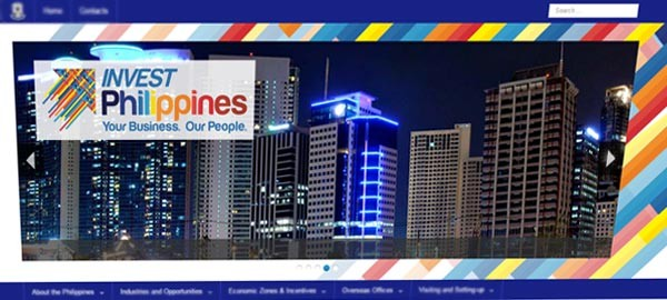 Official Invest Philippines website