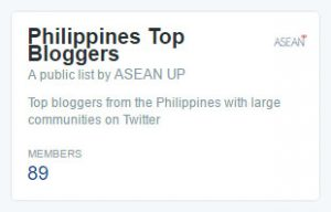 Twitter list of the Philippines' top bloggers