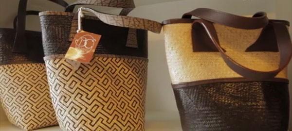 Fashionable bags made of rattan
