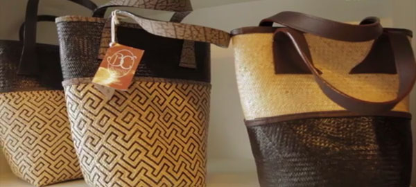 Fashionable bags made of rattan