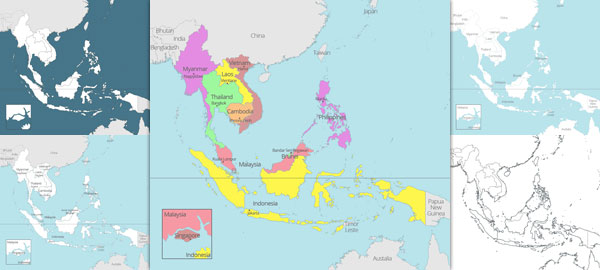 Blank Map Of Southeast Asia To Label.8 Free Maps Of Asean And Southeast Asia Asean Up