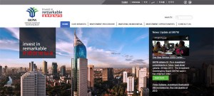 Indonesia Investment Coordinating Board website