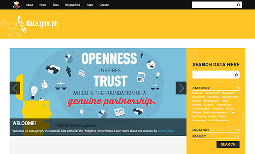 Open Data Philippines website