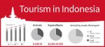 4 infographics on tourism in Indonesia