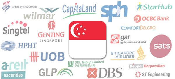 Singapore's 30 largest listed companies