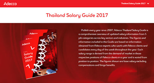 Thailand Salary Guide 2017 research tool