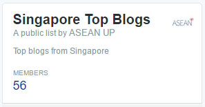 List of top blogs from Singapore on Twitter