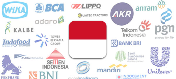 Indonesia's 45 largest listed companies