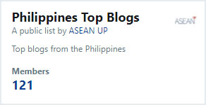 List of top blogs from the Philippines on Twitter