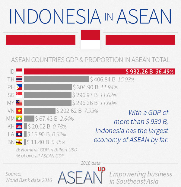 Indonesia in ASEAN infographic