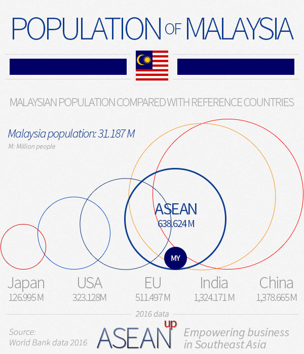 Malaysia population infographic