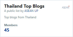 List of top blogs from Thailand on Twitter