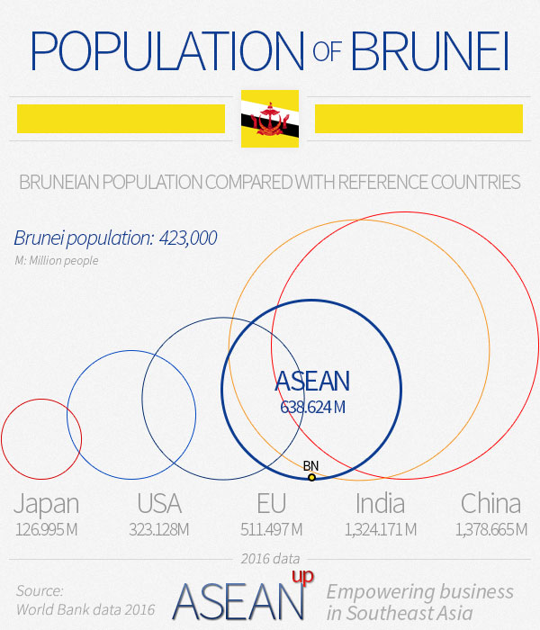 Brunei population infographic