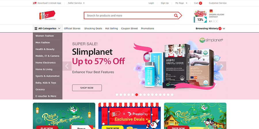 Top 10 e-commerce sites in Malaysia 2019 - ASEAN UP