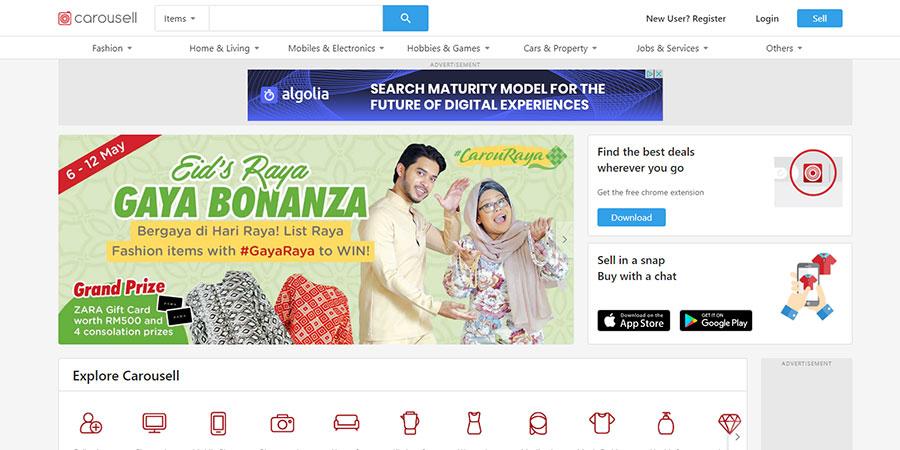 Carousell Malaysia website