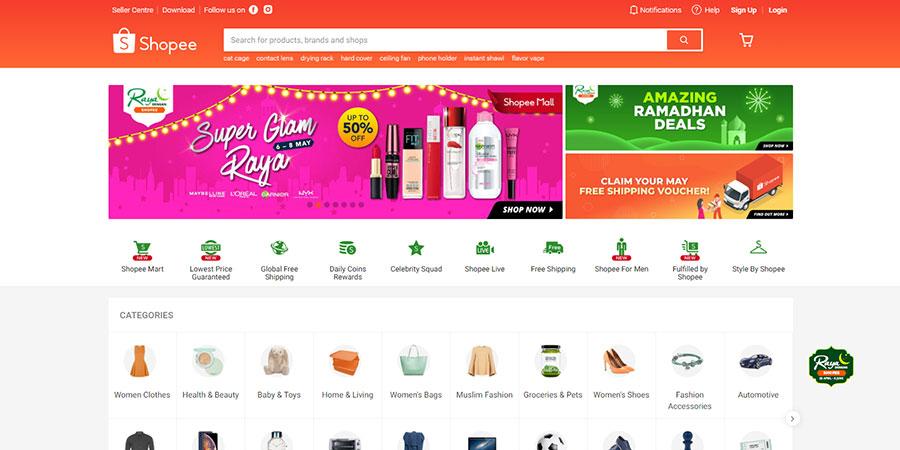 Shopee Malaysia website
