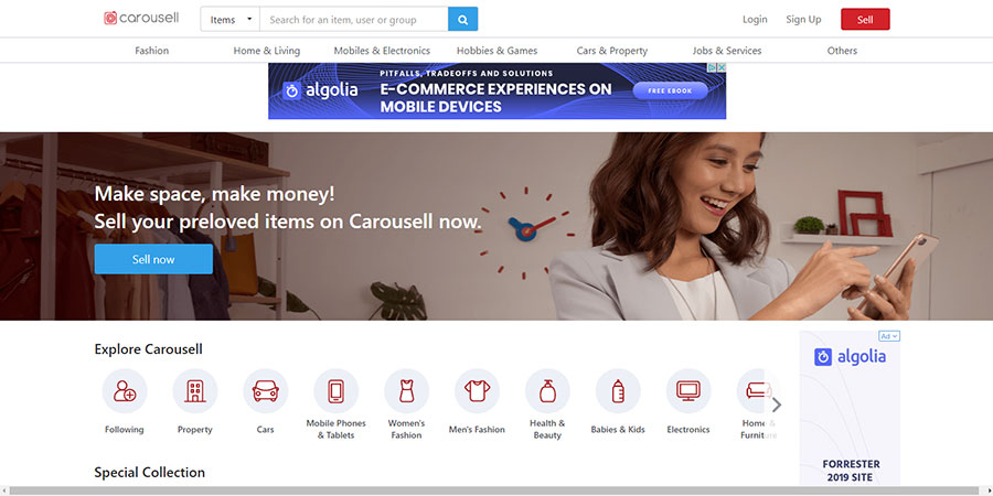 Carousell Philippines website
