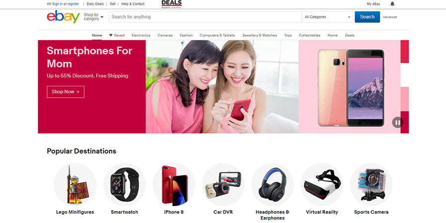 Ebay Singapore website