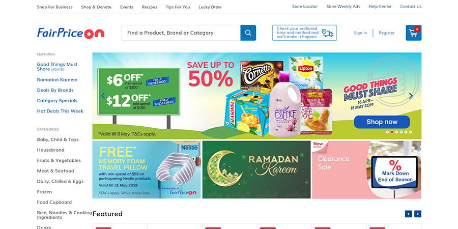 FairPrice On website