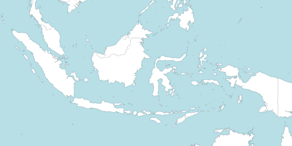 Large Indonesia blank map with countries borders
