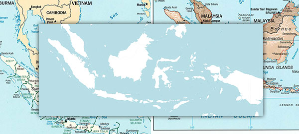 Free maps of Indonesia