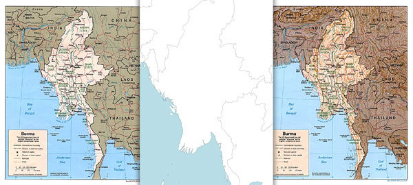 Free maps of Myanmar