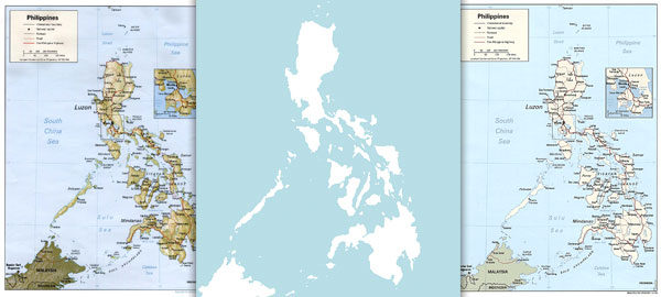 Free maps of the Philippines