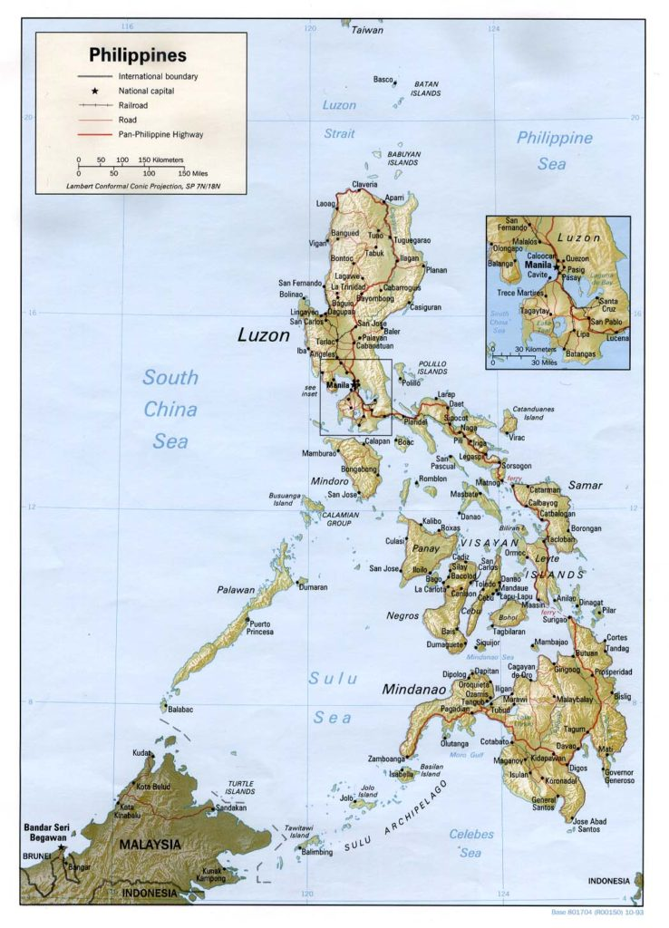Physical map of the Philippines 1993