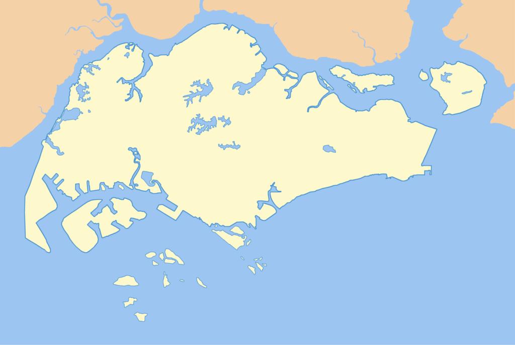 Large Singapore blank map