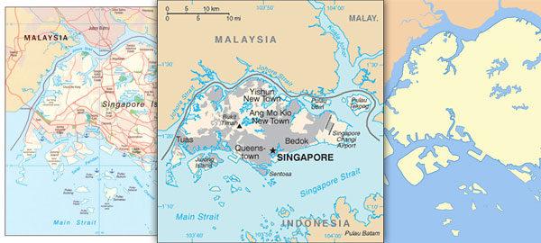 Free maps of Singapore