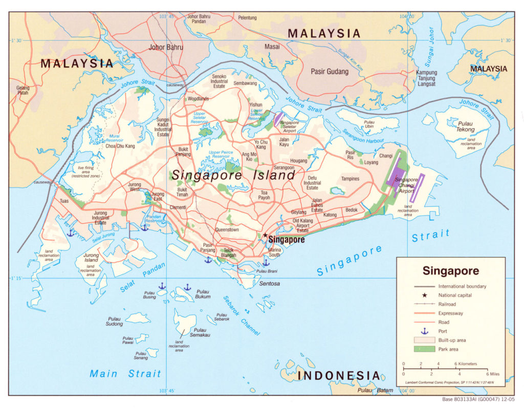 Political map of Singapore 2005
