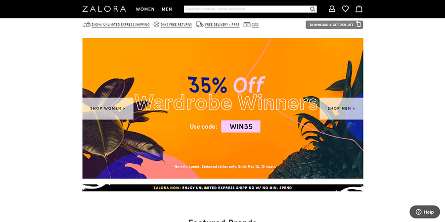 Zalora Philippines website