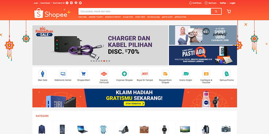 Shopee Indonesia website