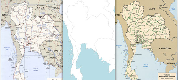 Free maps of Thailand