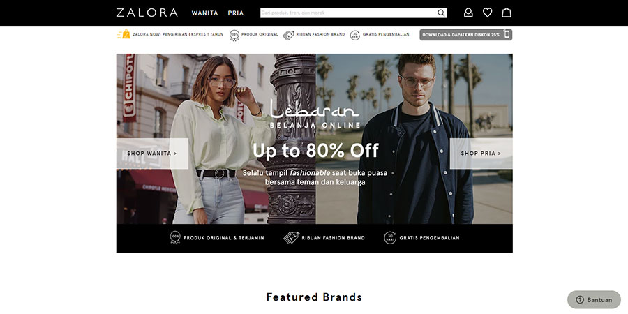 Zalora Indonesia website