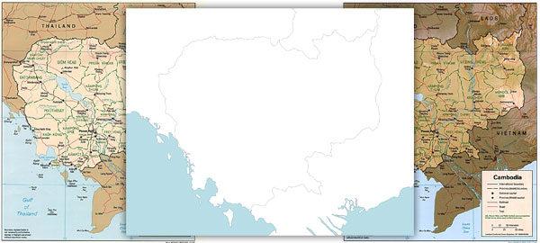 Free maps of Cambodia