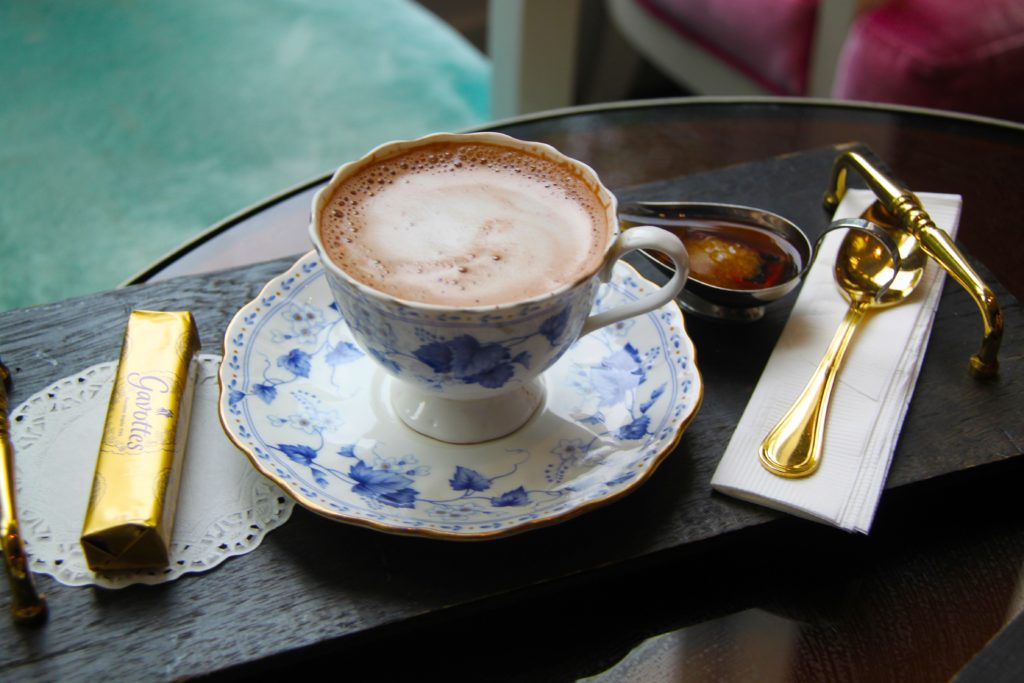 Cappucino with luxury accessories