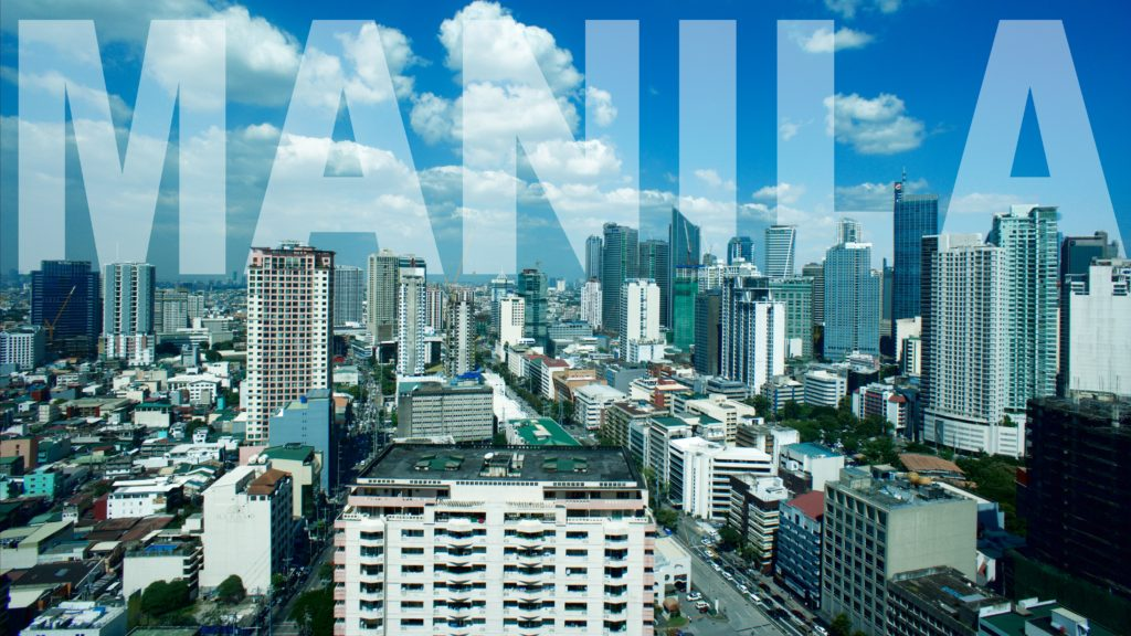 Manila with city name writing