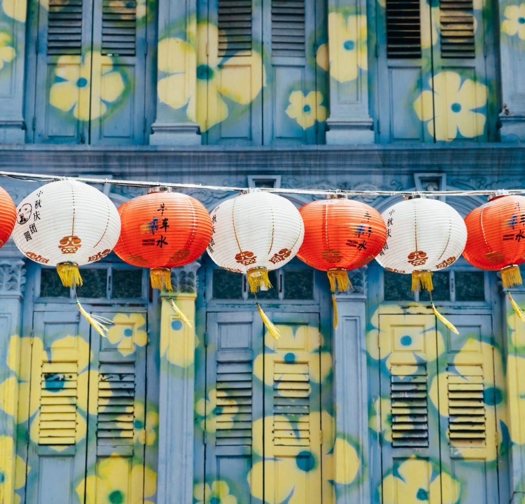 Singapore Chinatown lanterns