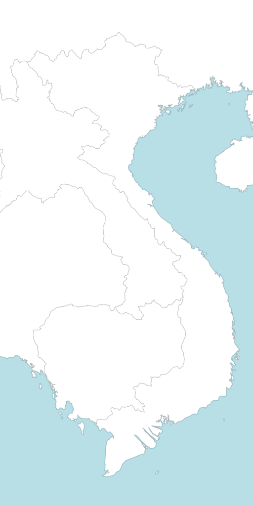 Large Vietnam blank map with countries borders